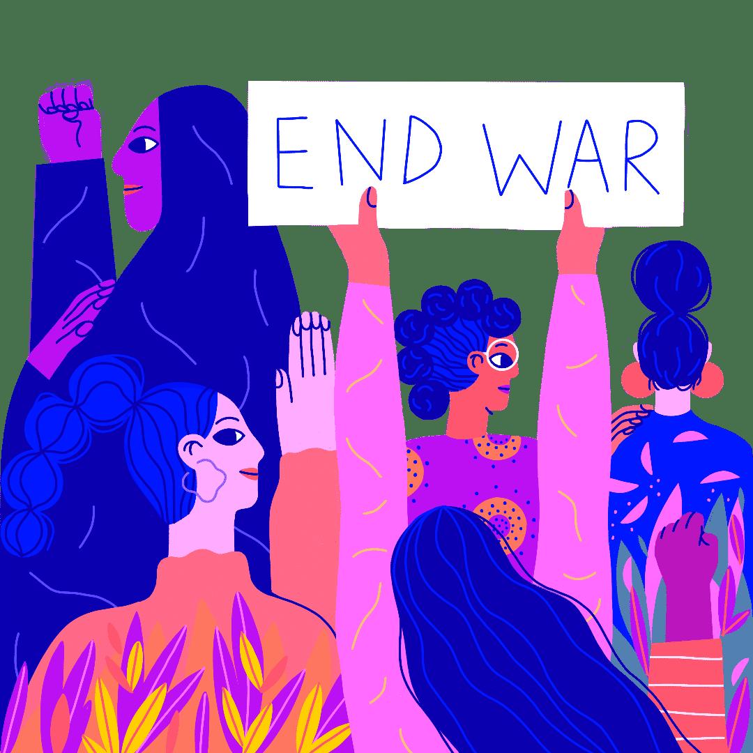 Aktivistinnen unterstützen